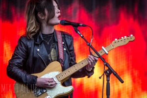 Honeyblood performing live at Victorious Festival 2015.